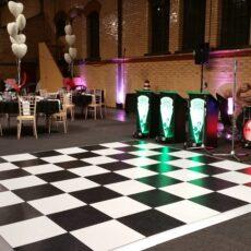 Wedding White & Black Dancefloor