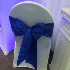 Wedding White Chair Cover & Bow