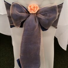 Wedding White Chair Cover & Double Bow