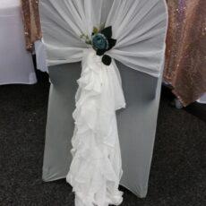 Wedding White Chair Cover & Hood