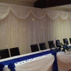 Wedding White Star Curtain Backdrop