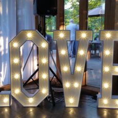Wedding Giant LED Love Letters