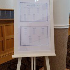 Wedding Personalised Table Plan