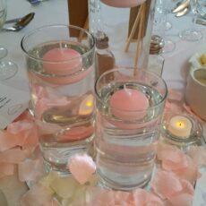 Wedding Cylinder Trio Table Centre