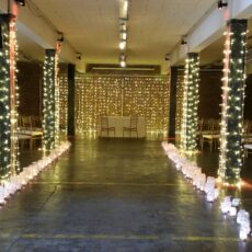 Wedding Fairy Light Backdrop